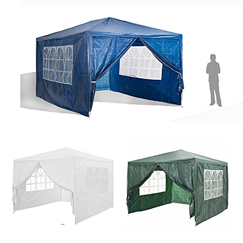 GXXDM Tente Verte de chapiteau de Gazebo de Jardin de 3x3m, Protection Contre Le Soleil d'eau avec 4 Panneaux latéraux, Cadre en Acier entièrement imperméable et Enduit de Poudre pour Le