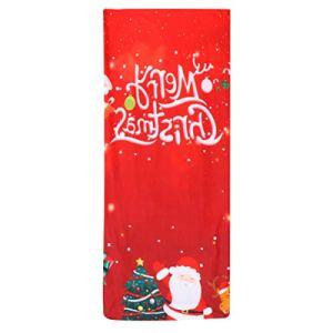 Hemoton Housse de chaise de Noël avec lettre imprimée Lavable Protection de siège de chaise de salle à manger pour hôtel cérémonie à la maison Banquet Décoration de banquet de mariage