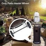 Jiakalamo Kit universel de roue de chauffage de terrasse pour extérieur, parasol chauffant à gaz mobile, ensemble de roues de chauffage pour gaz, gaz liquéfié, poêle à gaz naturel