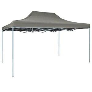 Ksodgun Tente Pliable Escamotable 3×4,5 m Anthracite Jardin Tonelle Pavillon