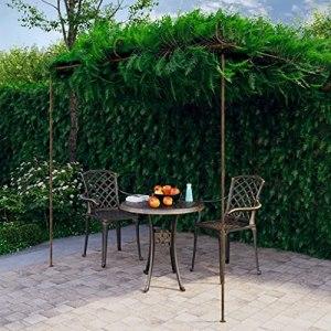 Matériau : Fer forgé Arche de rosiers de Jardin Marron Antique 3x3x2,5 m FerMaison Jardin Pelouses Jardins Vie en extérieur Structures extérieures Arches, treillages pergolas de Jardin