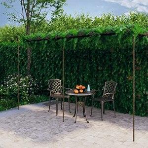 Matériau : Fer forgé Arche de rosiers de Jardin Marron Antique 6x3x2,5 m FerMaison Jardin Pelouses Jardins Vie en extérieur Structures extérieures Arches, treillages pergolas de Jardin