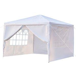 Outvita Tonnelle de Jardin, Tente de Réception Jardin avec 4 Bâches Amovibles pour Fête/Mariage/BBQ, 3x3x2,6m