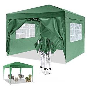YUEBO Tonnelle de Jardin Tonnelle Pliante 3×3 m avec 4 Parois Barnum Pliant Chapiteau Pliable Imperméable Pop UP Gazebo Tente de Reception,Terrasse