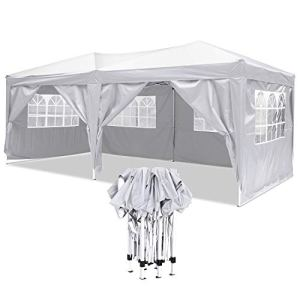 YUEBO Tonnelle Pliante imperméable 3×6 m Barnum Pliant Tonnelle Pliable avec 6 Parois Tent Pliante Chapiteau de Reception pour Jardin,Fête,Mariage