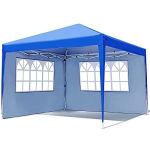Tonnelle 3 x 3 m – Tente pop-up avec 2 parois latérales et fenêtres – Étanche – Protection UV 50+ – Hauteur réglable – Pour pique-nique, fête, activités de plein air