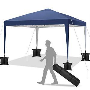 YUEBO Barnum Pliant 3×3 m Professionnel Tonnelle Pliante imperméable Tonnelle Pliable Gazebo Tente Pavillon,réglable en Hauteur