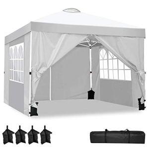 YUEBO Tonnelle 3×3 m Tonnelle Pliante imperméable avec 4 Parois Tente de Jardin Barnum Professionnel Chapiteau Pliable pour Reception, Exterieur