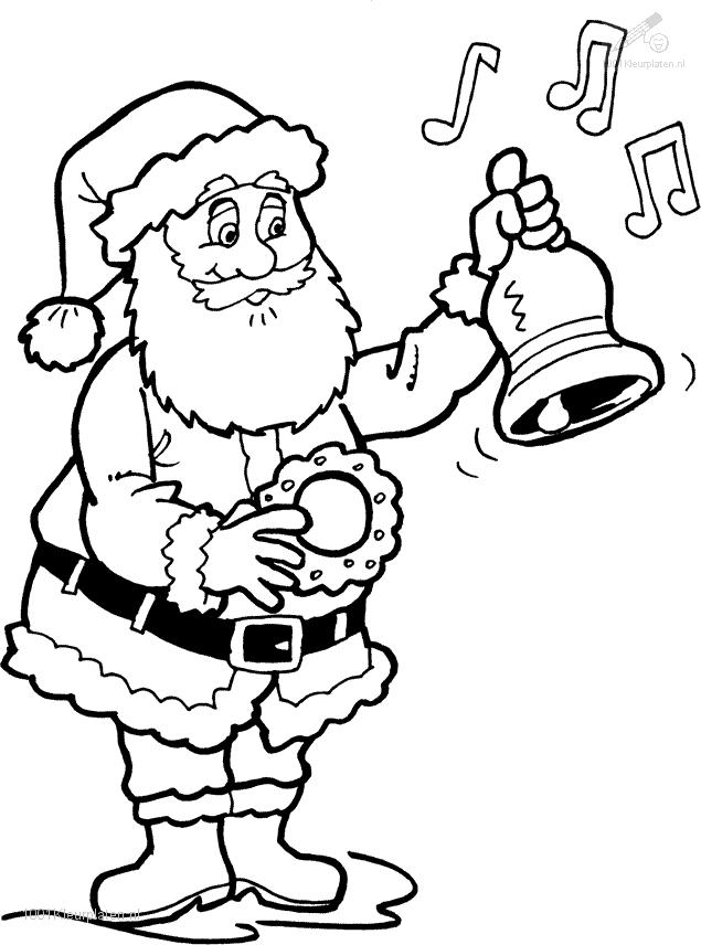 Santa Claus Free Colouring Pages