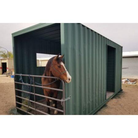 abri chevaux et box chevaux en conteneur