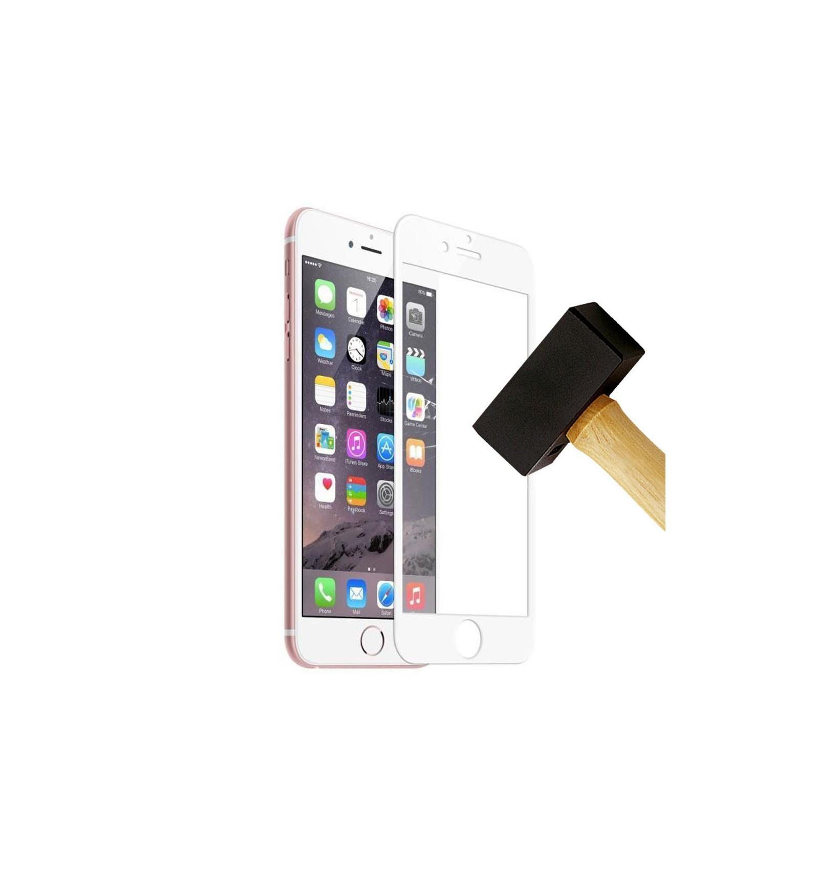 film verre trempe 4d apple iphone 6 6s blanc protection ecran