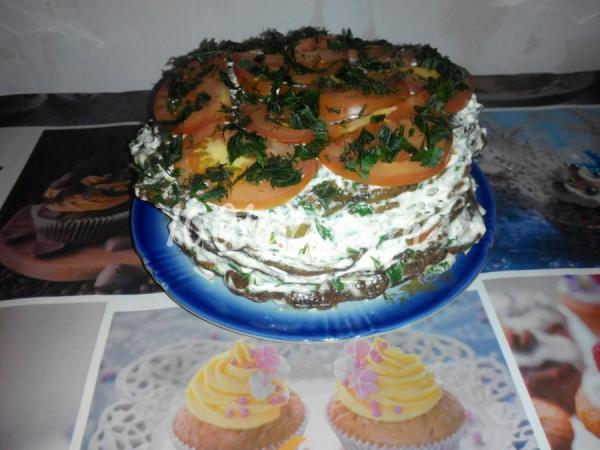 Печеночный тортик Холодные закуски от 1001 ЕДА