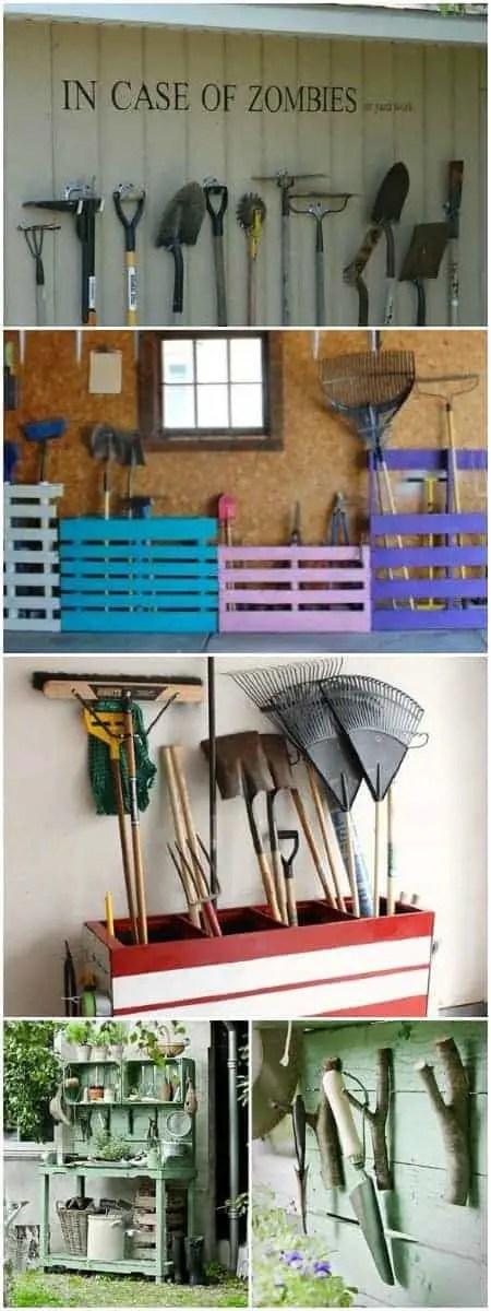 12 Garden Tool Storage Racks Easy to Make