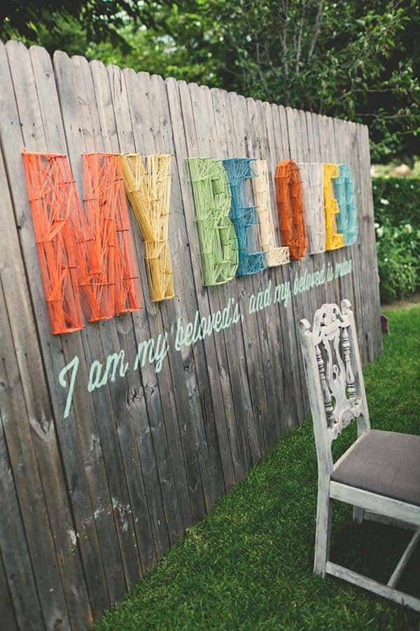 Garden Fence String Art Decor - 1001 Gardens on Backyard Wooden Fence Decorating Ideas  id=23892