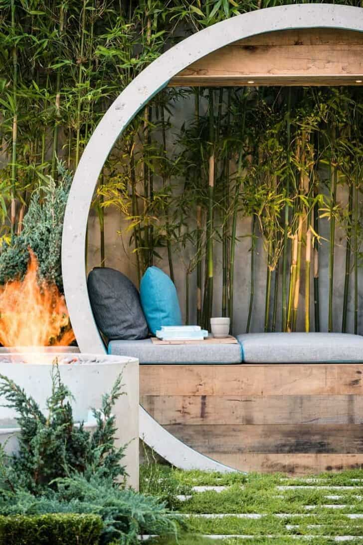 Small Zen Design Garden Called Pipe Dream | 1001 Gardens on Meditation Patio Ideas  id=72427