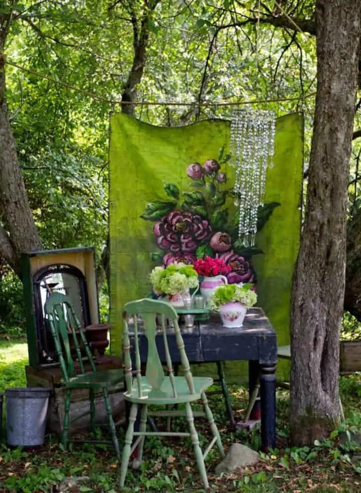 12 Shabby Chic & Bohemian Garden Ideas - 1001 Gardens on Chic Patio Ideas id=76043