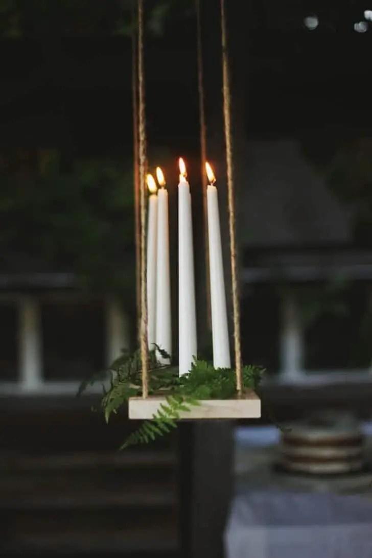 Diy Outdoor Candle Chandelier Tutorial 1001 Gardens