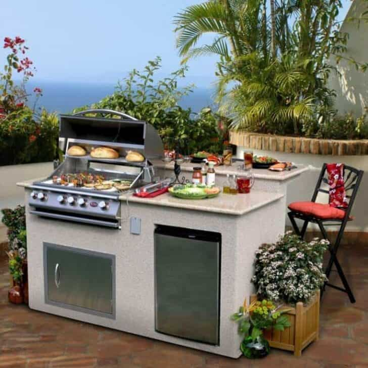 Top 20 DIY Outdoor Kitchen Ideas | 1001 Gardens on Patio Kitchen Diy  id=98735
