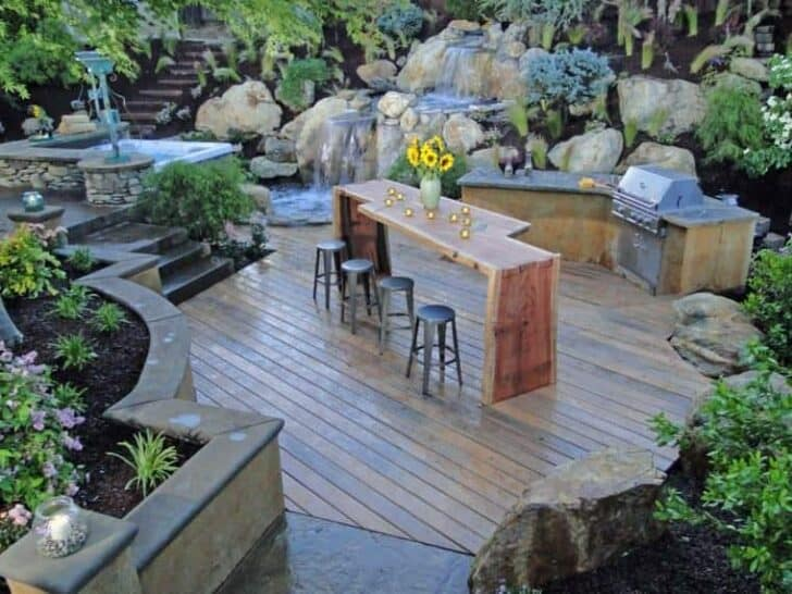 Top 20 DIY Outdoor Kitchen Ideas | 1001 Gardens on Patio Kitchen Diy  id=62208
