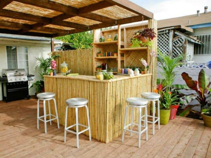 Top 20 DIY Outdoor Kitchen Ideas | 1001 Gardens on Patio Kitchen Diy  id=45061