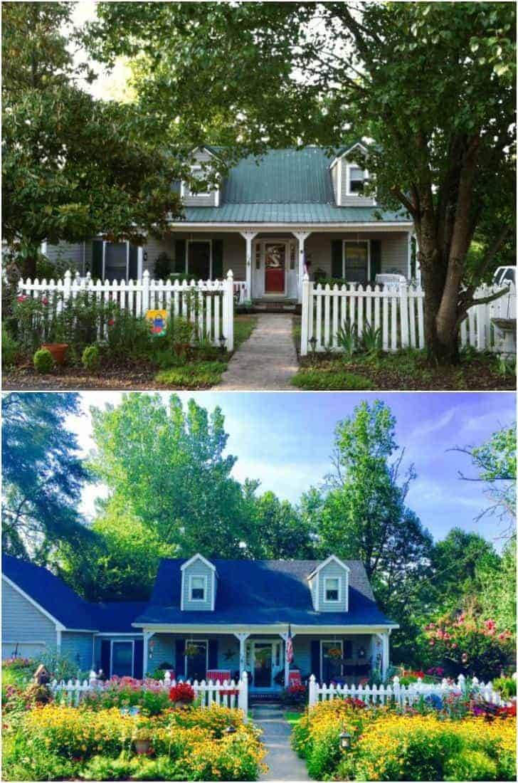 Before After Cottage Home And Garden Transformation
