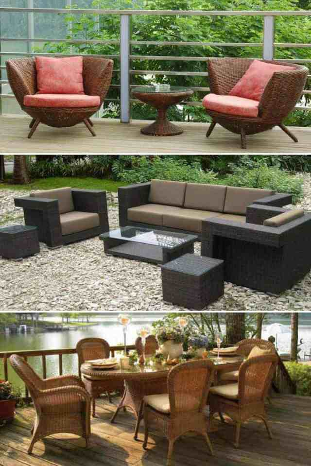 wicker patio furniture ideas • trend 2018 • 1001 gardens