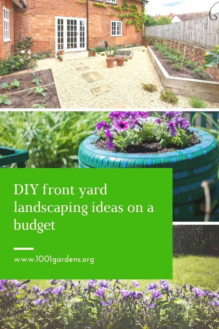 DIY front yard landscaping ideas on a budget - 1001 Gardens on Diy Back Garden Ideas  id=24677