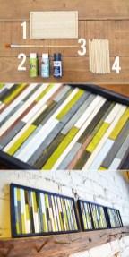 Palitos de madeira podem ser pintados e usados na decoração