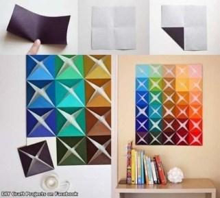 E que tal essa simples dobradura para criar um ambiente mais colorido?