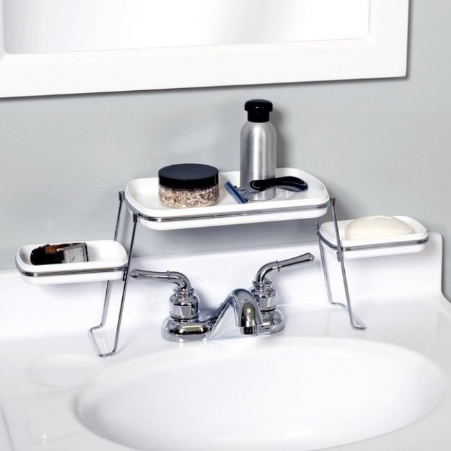 Como aproveitar o espaço da pia da casa de banho