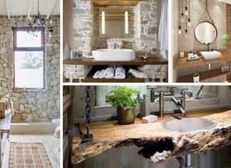 ideias rústica casa de banho