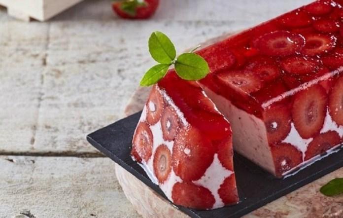 delicia de morango e gelatina