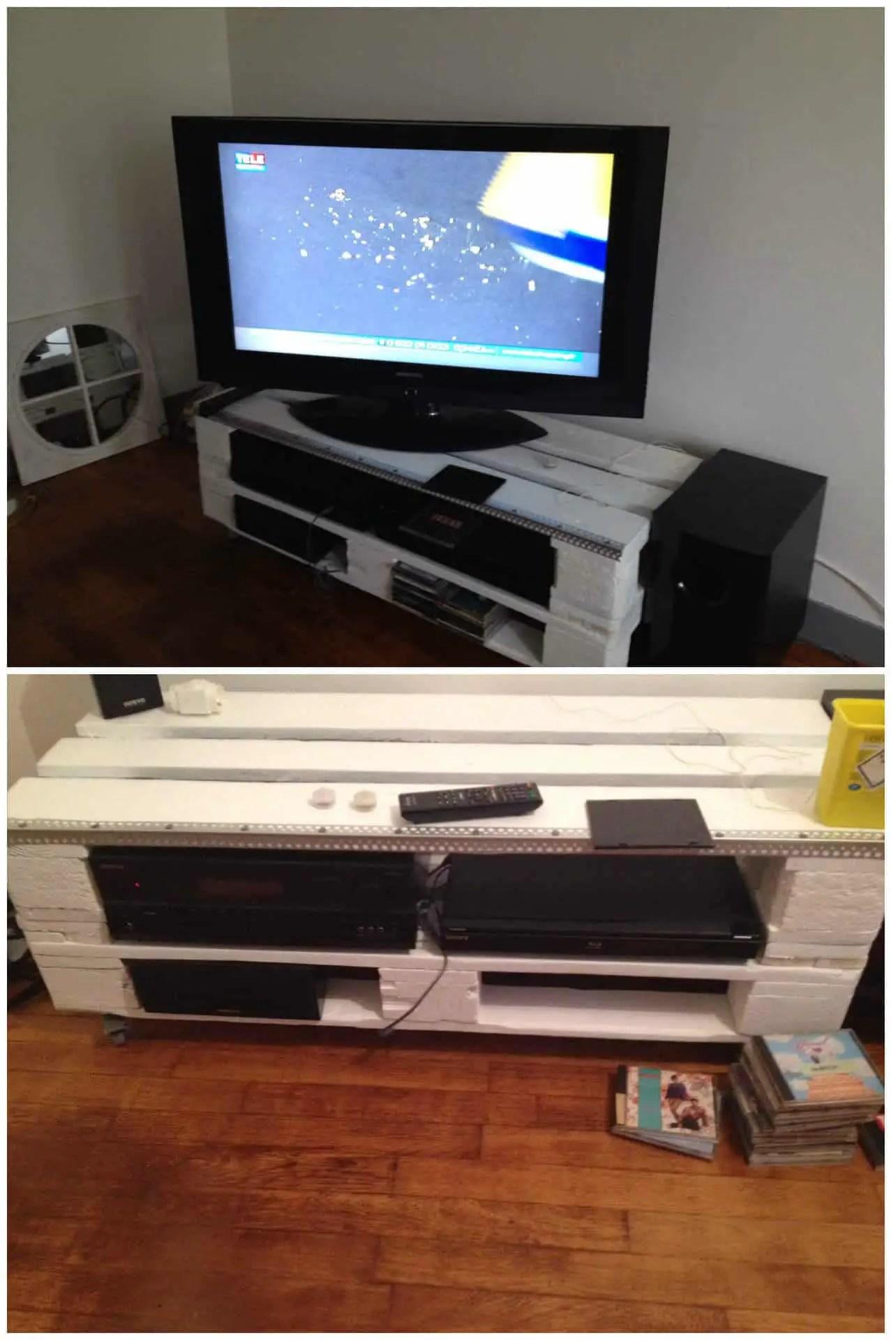 Pallet TV Stand Meuble TV En Palettes 1001 Pallets