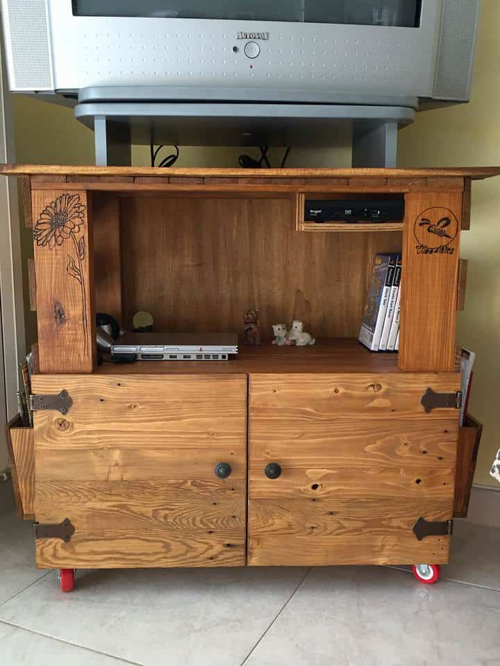 Display technology has come a long way in a decade. Woodbee - TV Stand Furniture • 1001 Pallets