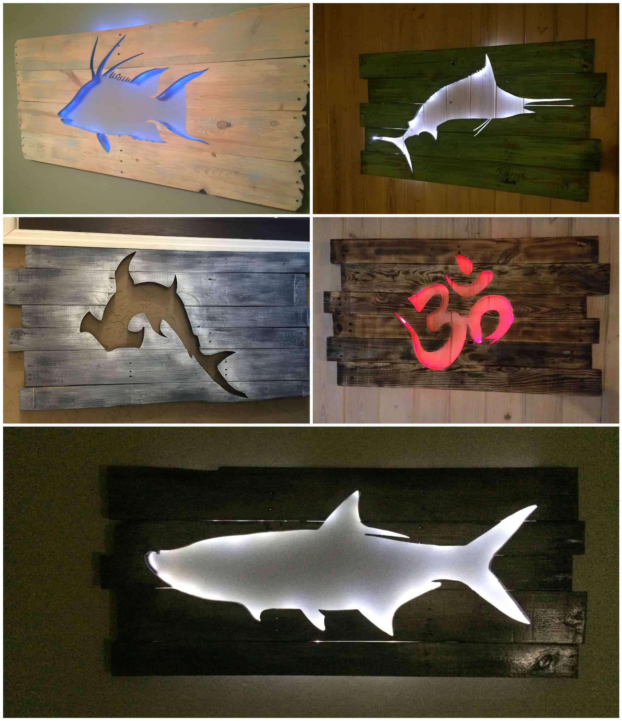 Beautiful Backlit Pallet Wall Art Pallet Ideas 1001