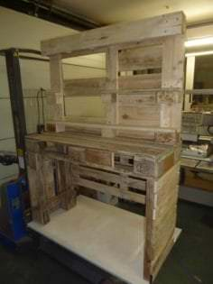 Gorgeous Mirrored Pallet Vanity Set With Jewelry Rack 1001 Pallets