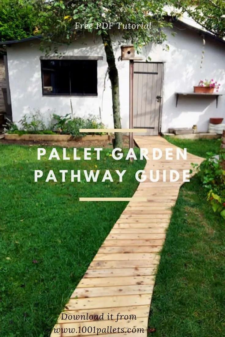 Diy Pdf Tutorial Pallet Garden Pathway 1001 Pallets