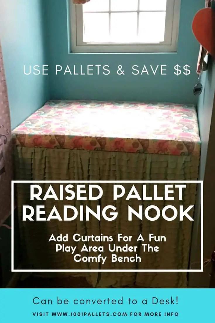 Charming Pallet Reading Nook Converts Into Desk 1001 Pallets