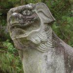 大縣神社の狛犬撮った。