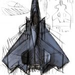 AMM-1とF-6のざっと描いた