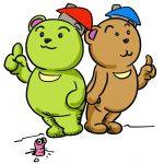 緑と茶色のくま190906
