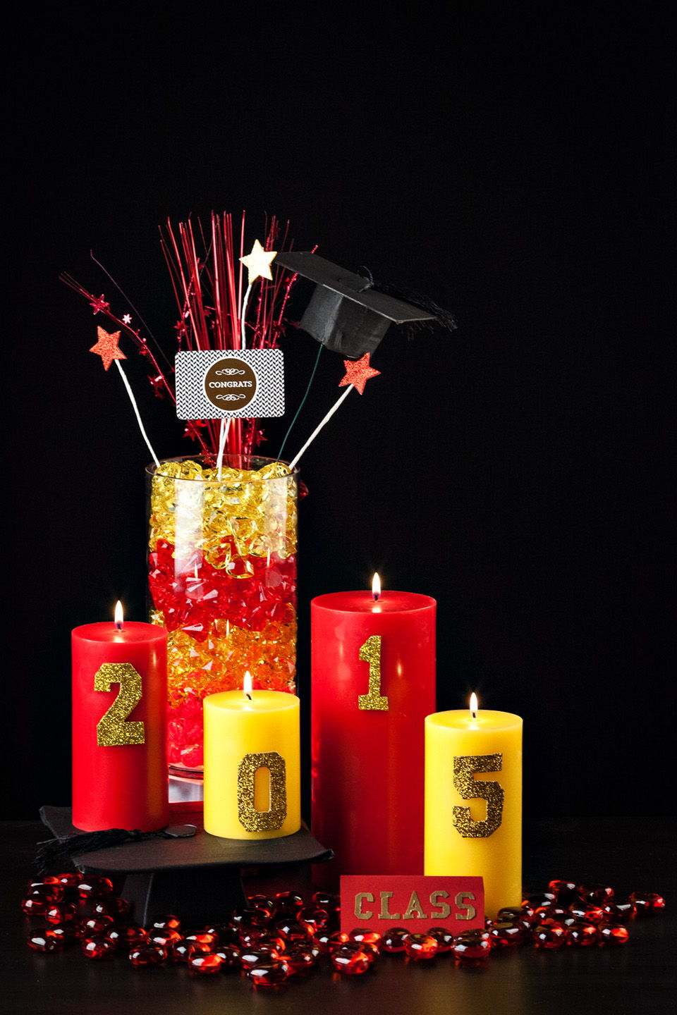 DIY Graduation Centerpiece Ideas
