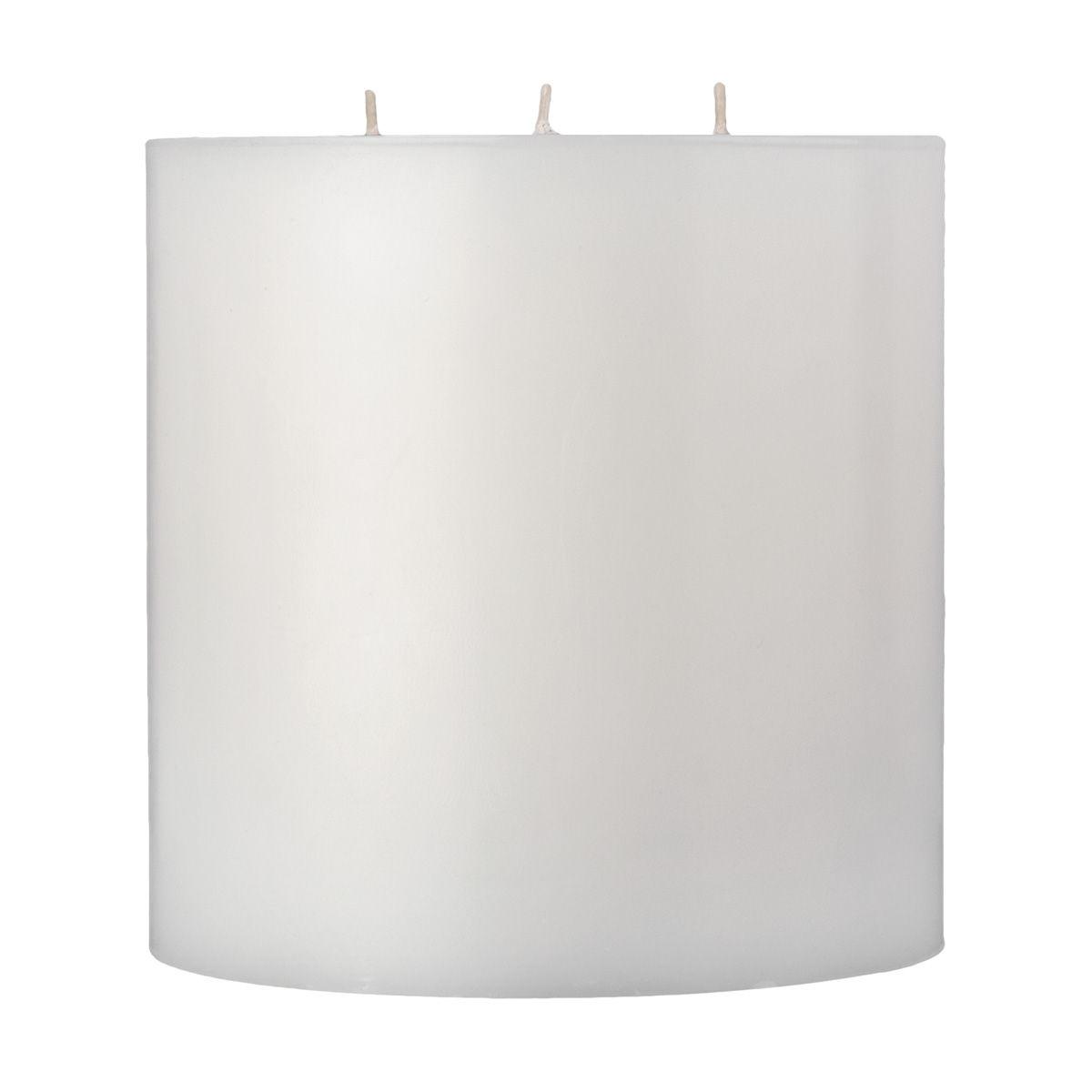 6x6 White 3 Wick Pillar Candle