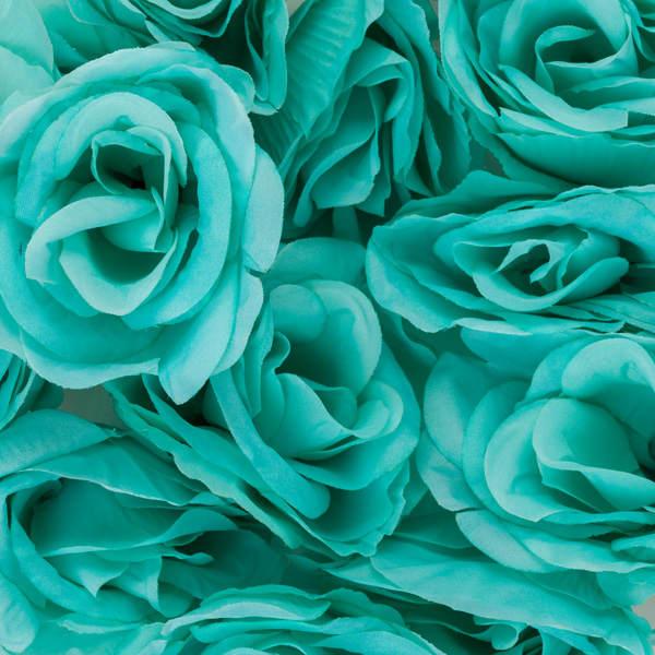 Bloomed Rose Buds Tiffany Blue Fake Rose Buds
