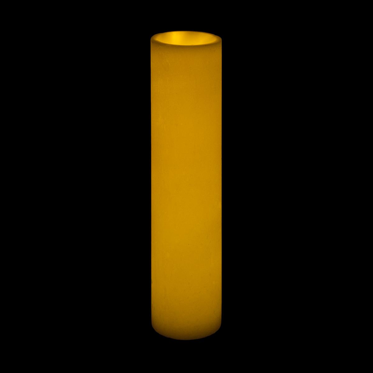 3x16 Ivory Round Wax Luminary