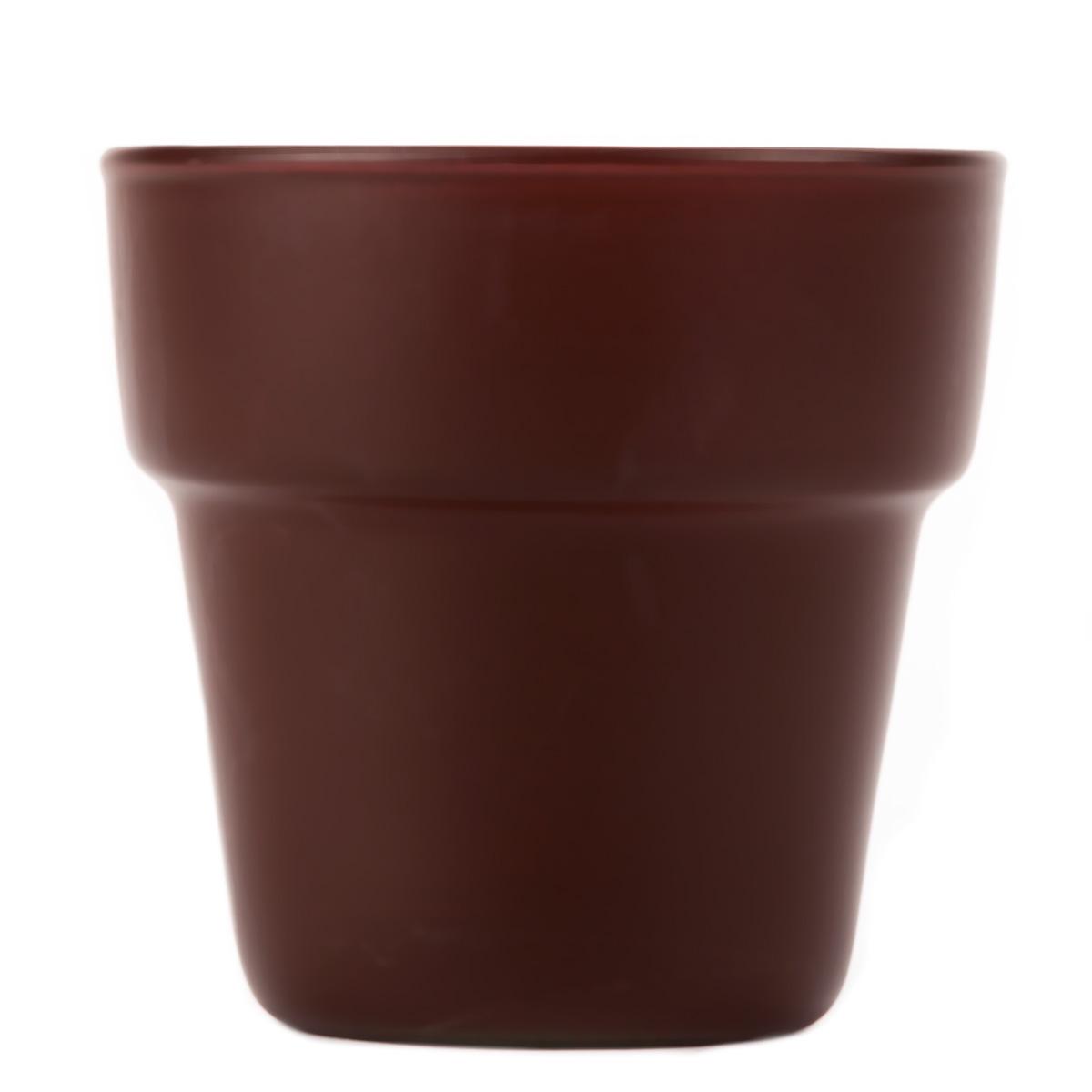 Flower Pot Votive Cup Brown