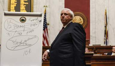 'Beyond Dire': With marker in hand, West Virginia's new governor delivers unconventional State of the State