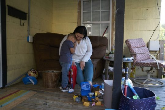 Carolyn Dillard is a single mother of Kyson and Kemar. She is an advocate for postpartum depression. Photo: Stacy Kranitz/100 Days in Appalachia