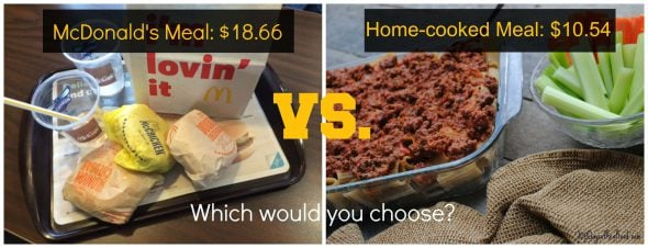 5 Home Cooked Meals that are Cheaper than McDonald's on 100 Days of #RealFood