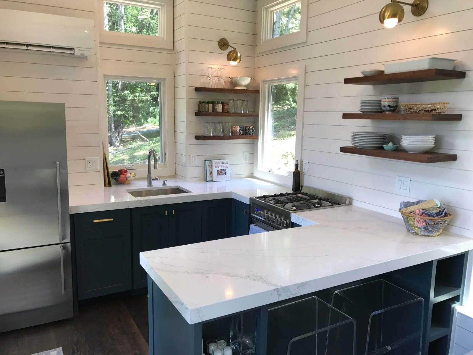 What's in our new Tiny House Kitchen! - 100 Days of Real Food on Luxury Farmhouse Kitchen  id=23743